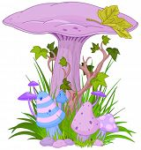pic of magical-mushroom  - Magic mushroom in a grass - JPG