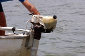 foto of outboard engine  - Photo of Outboard motor - JPG