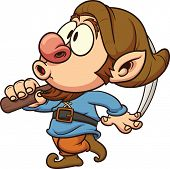 picture of dwarf  - Cute dwarf whistling - JPG
