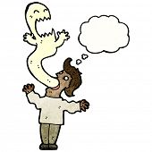 picture of possession  - cartoon ghost possessing man - JPG