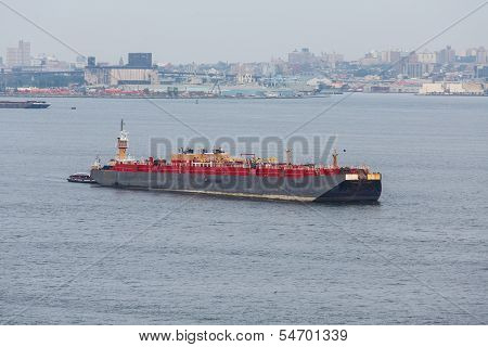 Black And Red Freighter