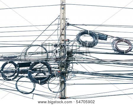 Wire Electric In Pole