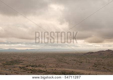Cloudy Arizona Desert
