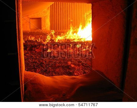 Fire In The Boiler Grate