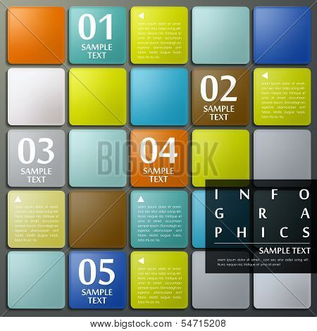 Abstract 3D Grid Infographics