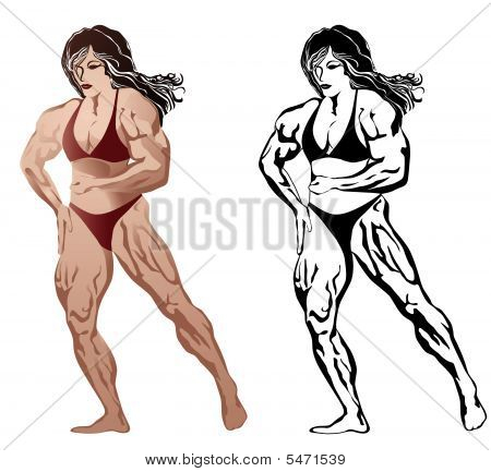 Woman Body Builder