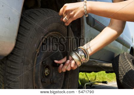 Changing A Flat Tire