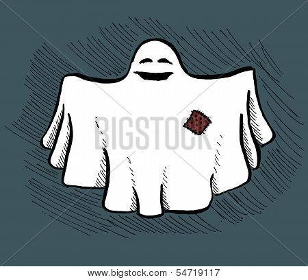 Hand drawn ghost