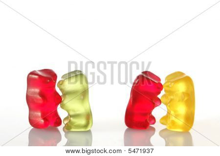 Gummy Bears Dancing At A Party