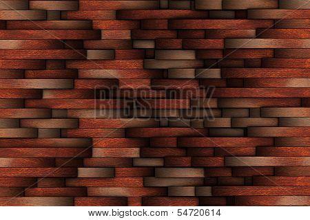 Mahogany Abstract Wooden Wall Design