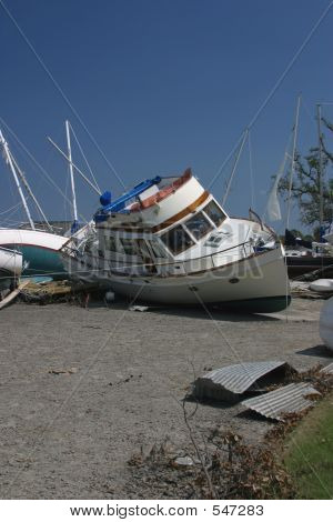 Katrina Flood Boats