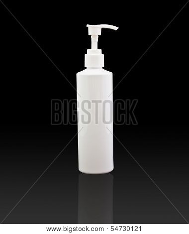 White tube bottle of shampoo conditioner hair rinse on a isolated background