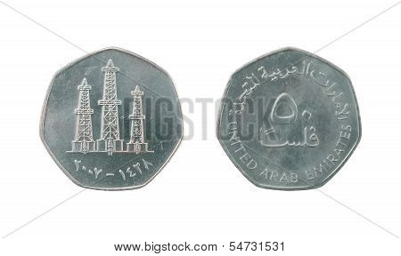 50 United Arab Emirates Fils Coin