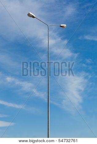 Galvanized Light Pole