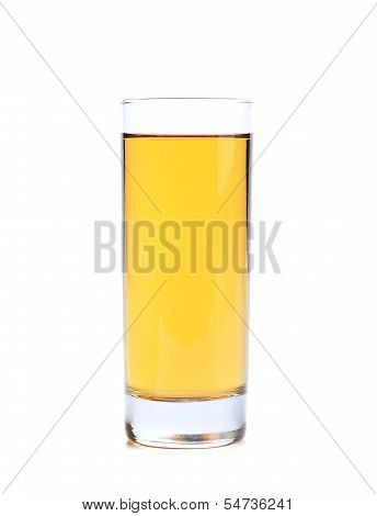 apple or grape clarified juice in glass