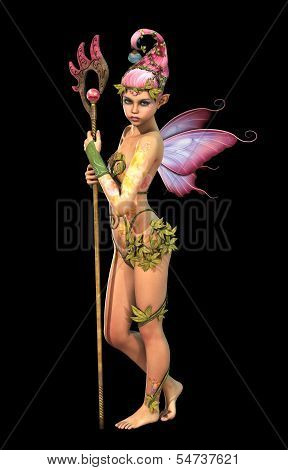 Fairy With Staff, 3D Computer Graphics