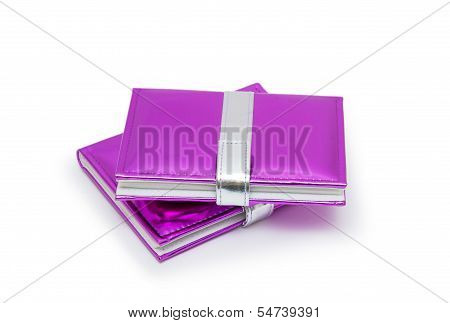 Pink Books Isolated On White Background