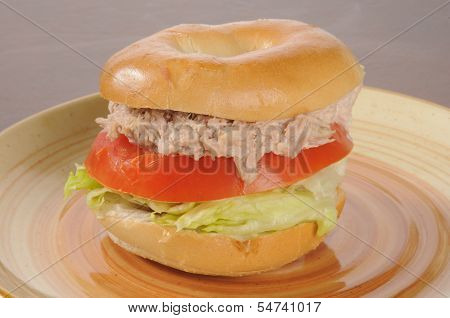 Tuna Sandwich On A Bagel