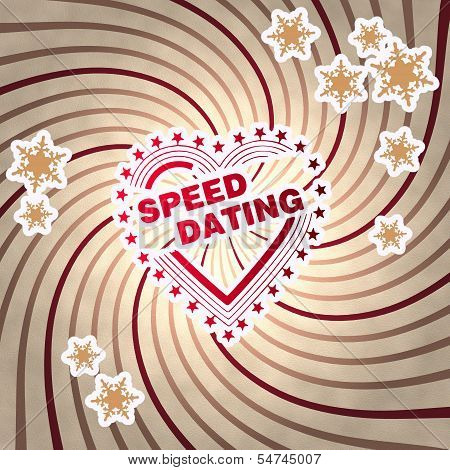 Red Vintage Wooden Speed Dating Label