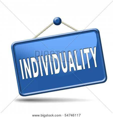 individuality stand out from crowd being different having a unique personality be one of a kind personal development and existence