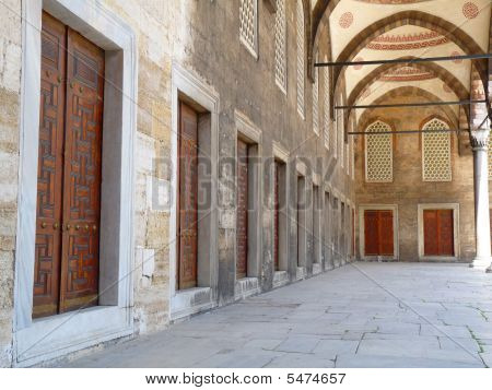 Courtyard with doors