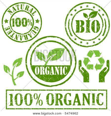 Símbolo de orgânico e Natural