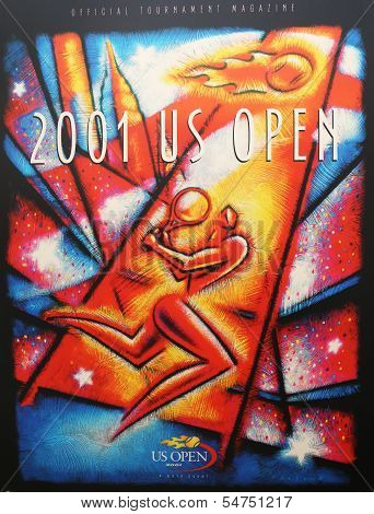 US Open 2001 poster on display at the Billie Jean King National Tennis Center