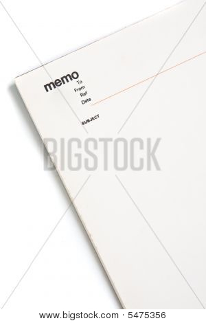 Blank Memo Pad Notebook
