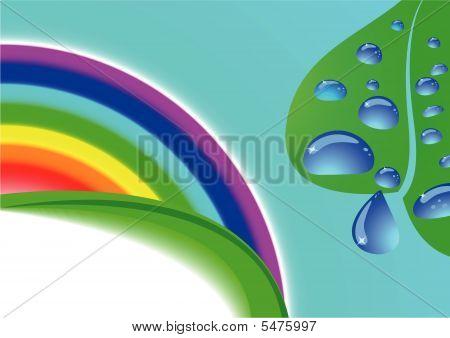 Ecologycal Card With Rainbow