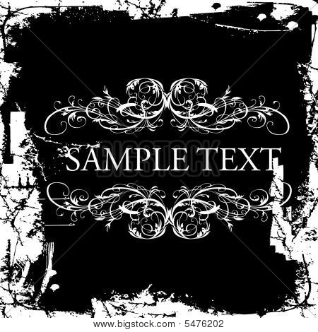 Decorative Grunge Vintage Royal Ornate Banner