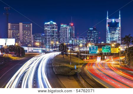 Downtown Nashville, Tennessee, USA.