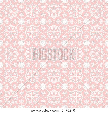 seamless lace background on pink