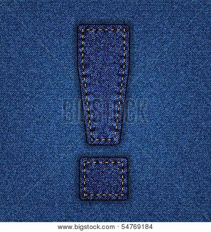 Jeans alphabet exclamation
