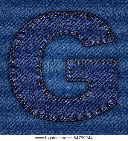 Jeans alphabet letter G