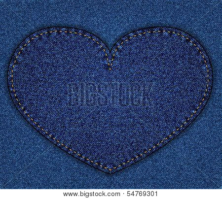 Jeans alphabet heart shape