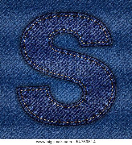 Jeans alphabet letter  S