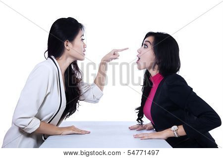 Asian Businesswomen Fighting