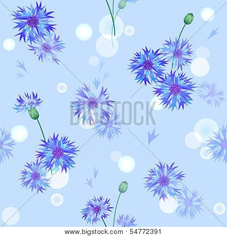 Vector seamless pattern with bluebottles