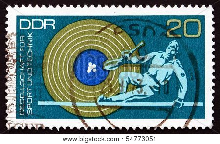 Postage Stamp Gdr 1972 Target And Military Obstacle Race