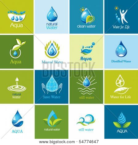 Set of vector Water icons 1.