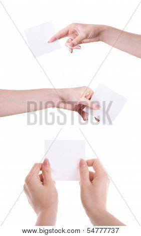 Hand With Sticker.