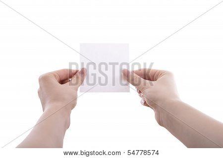 Hands With Sticker.