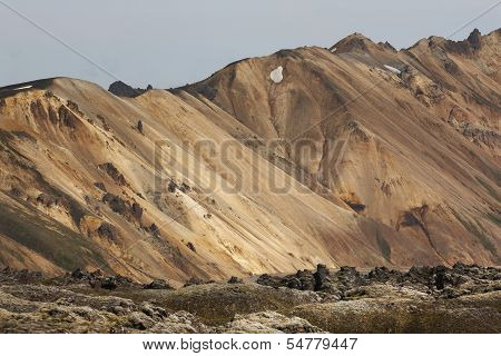 Volcanic Landscape With Rhyolite Formations In Iceland
