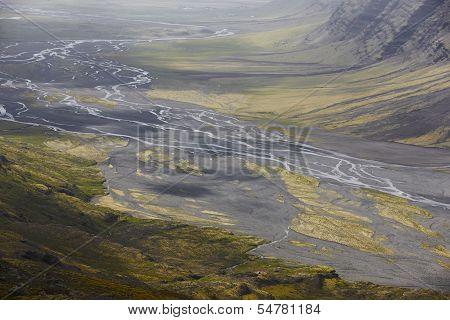 Skalafelllsjokull Valley In Iceland