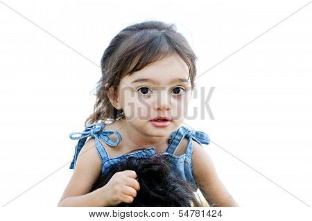 Girl Clasping Her Mother's Hair