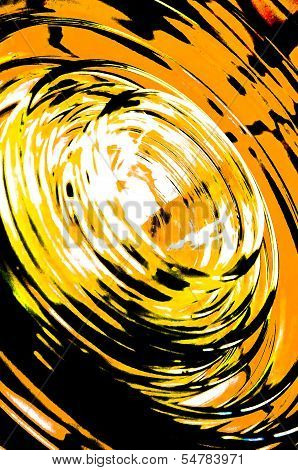 Orange glass circles