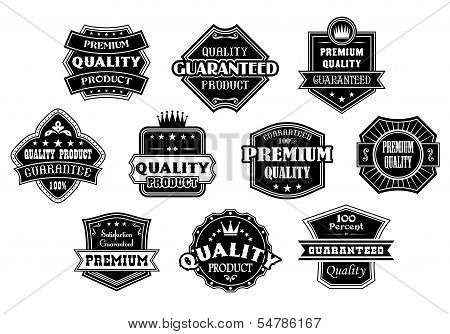Labels Set In Vintage Western Style