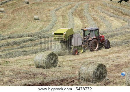 Baler Releasing Bale