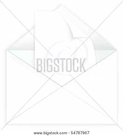 White Envelope And Watermark Paper