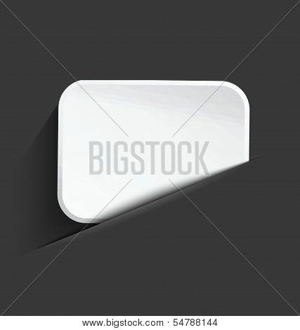 White Board In Paper Cut